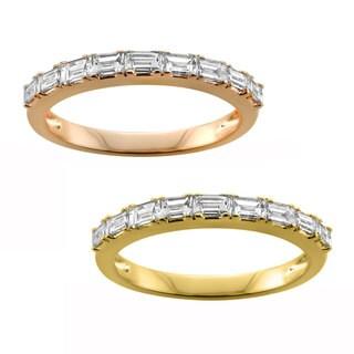 Montebello Jewelry 14k Gold 1/2ct TDW White Diamond Pave-set Wedding Band (G-H, VS1-VS2)