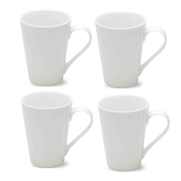 TAG Whiteware Tapered Coffee Mug (Set of 4) 18620679