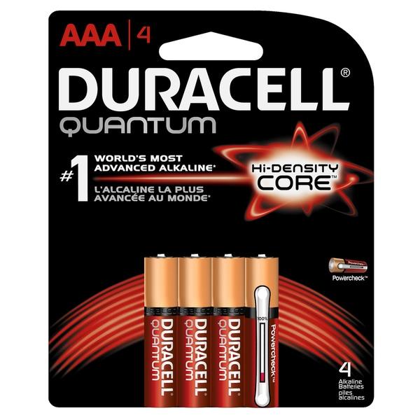 Duracell 66249 AAA Quantum Alkaline Batteries 4-count