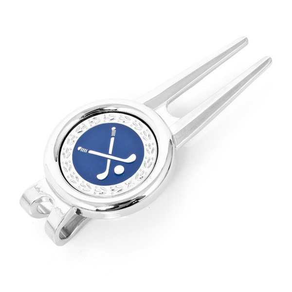 Silver Overlay Divot Tool with Ball Marker