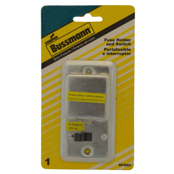 Bussman BP/SSU 2.25-inch 1/2 HP 15 Amp On/Off Fused Switch Box Cover