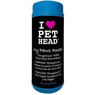 Pet Head My Paws Rock Grooming Dog Wipes Orangelicious (50 count)