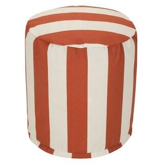 Majestic Home Goods Vertical Stripe Pouf Outdoor Indoor