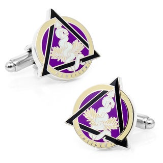Silver Overlay Dental Caduceus Cufflinks