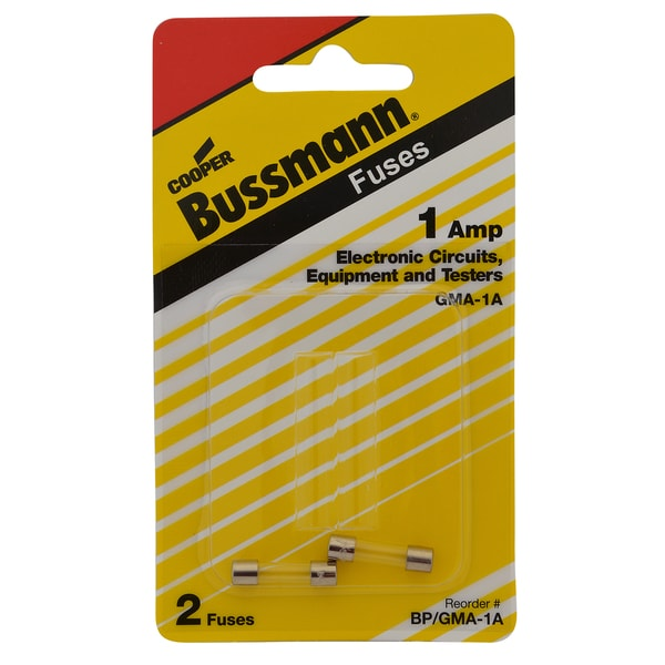 Bussman BP/GMA-1A 1 Amp 5 x 20mm Glass Tube Fast Acting Fuse (Set of 2)