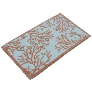 Coral Bath Rug (21 inches x 34 inches)
