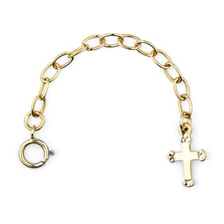 Goldtone Cross Charm Necklace Extender