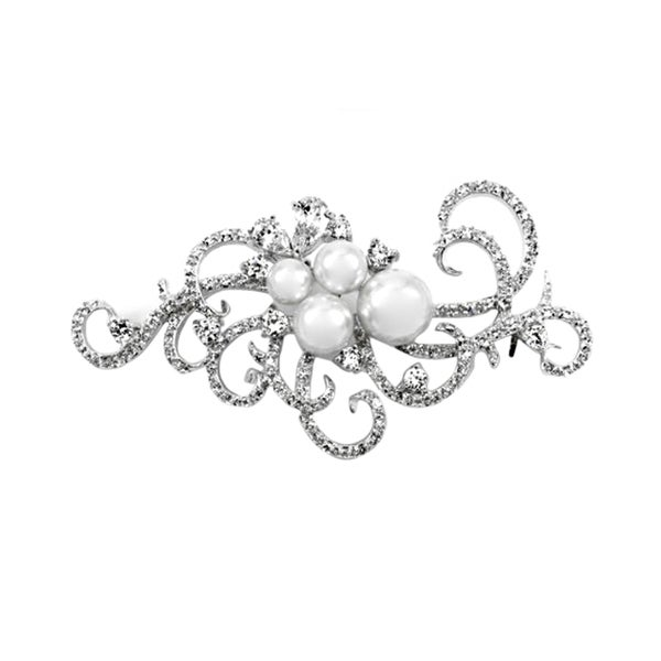 Pearl Fancy Swirl Brooch