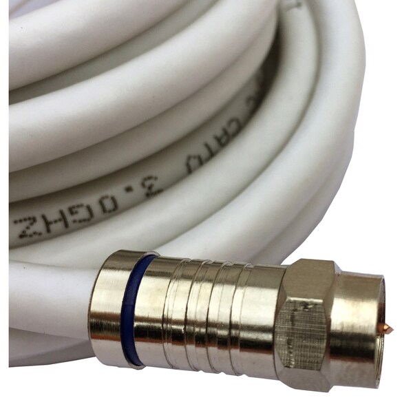 Black Point Products Inc BS-060-WHITE 50-foot RG-6 White Weatherproof Coaxial F Cable