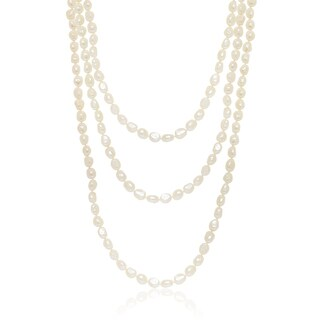 Pealyta Baroque Freshwater Pearl Endless 90-inch Necklace (10-11mm)