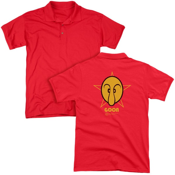 Popeye/Goon (Back Print) Mens Regular Fit Polo in Red