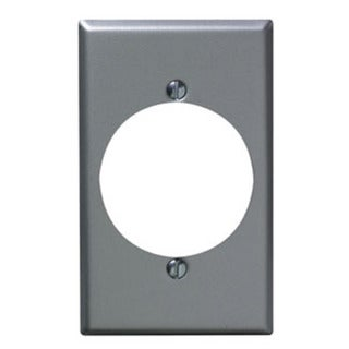 Leviton 001-4927 Single Gang Aluminum Finish Power Outlet Receptacle Wallplate