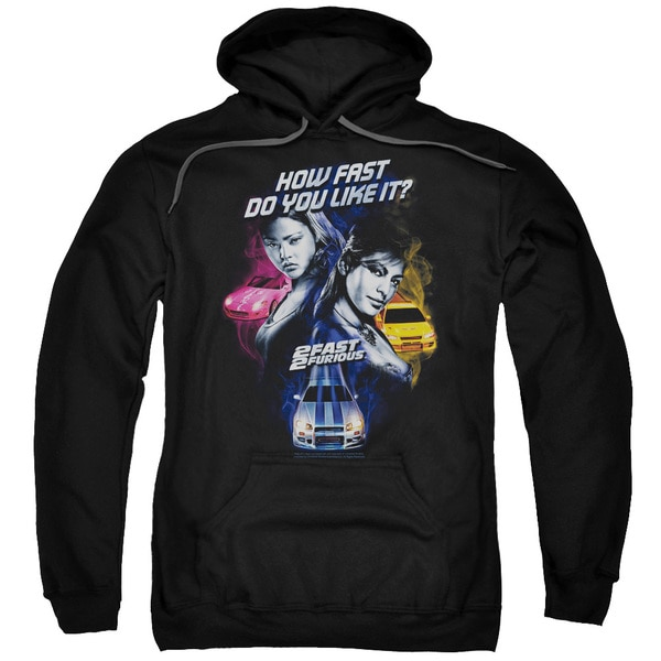 2 Fast 2 Furious/Fast Women Adult Pull-Over Hoodie in Black