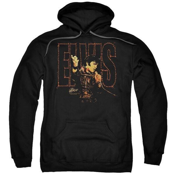 Elvis/Take My Hand Adult Pull-Over Hoodie in Black
