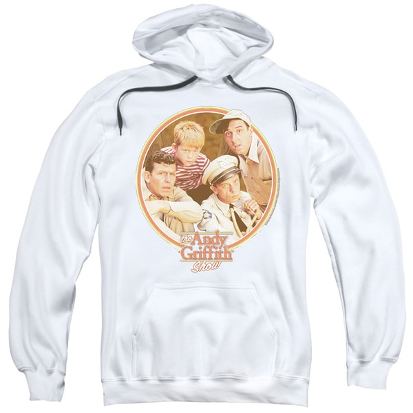 Andy Griffith/Boys Club Adult Pull-Over Hoodie in White