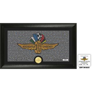 Indianapolis 500 'Mosaic Silhouette' Bronze Coin Panoramic Photo Mint