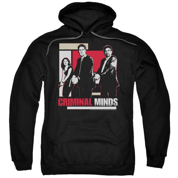 Criminal Minds/Guns Drawn Adult Pull-Over Hoodie in Black
