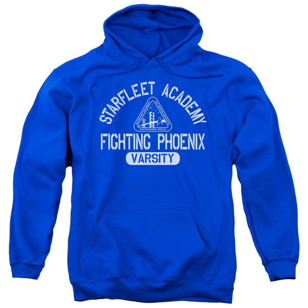 Star Trek/Varsity Adult Pull-Over Hoodie in Royal Blue