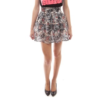 Soho Women Multicolor Daisy/ Rose Pleated Bandage Skirt