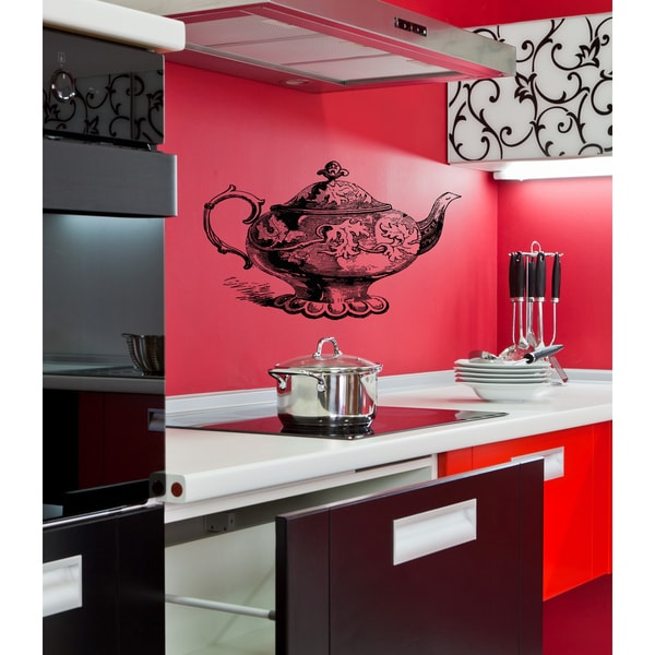 The old kettle Wall Art Sticker Decal