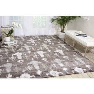 Nourison Silk Shadows Grey Rug (7'9 x 9'9)