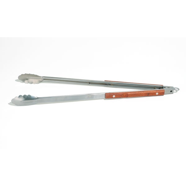 Outset Wood and Stainless Steel Extra-long Barbecue Tongs