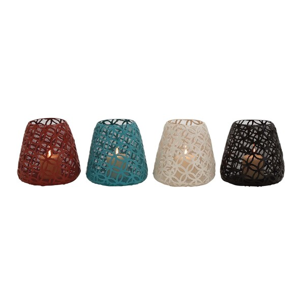 The Heavenly Metal Candle Holder 4 Assorted