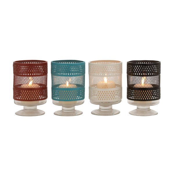The Mesmerizing Metal Glass Candle Holder 4 Assorted 18625432