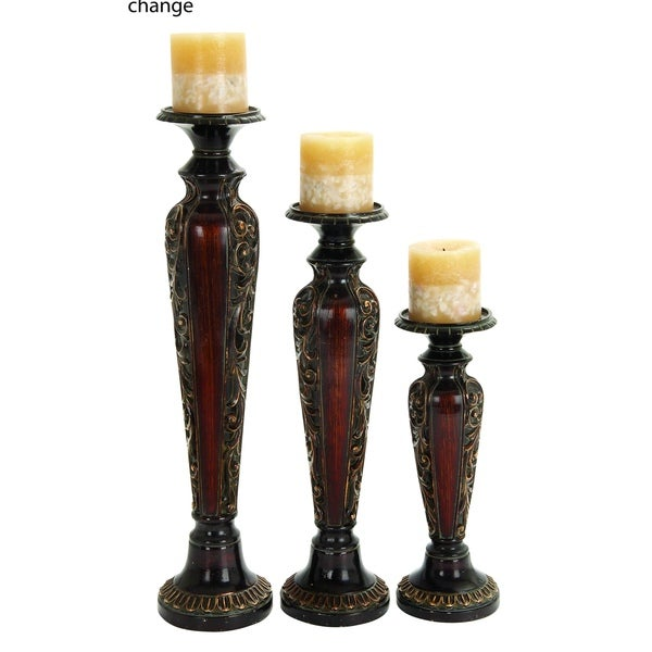 Polystone Candle Holder (Set Of 3) Anytime Impressive Gift