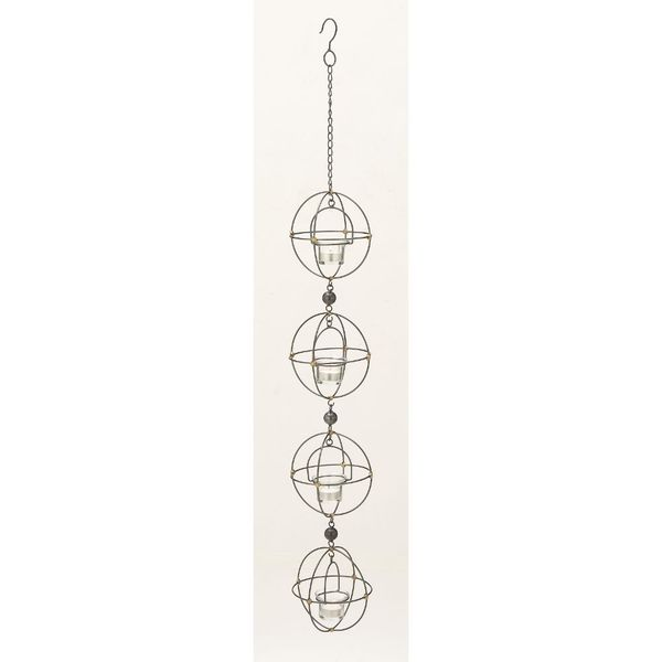 Amazing Metal Glass Hanging Candle Holder 18625993