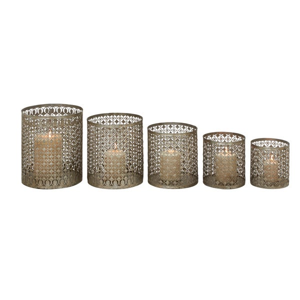 Set Of 5 Alluring & Unique Styled Metal Candle Holder 18626221
