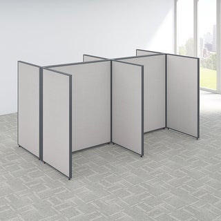 Bush Business Furniture ProPanels Grey MDF/Plastic/Fabric 120-inches x 72-inches x 66-inches 4-person Open Cubicle Configuration