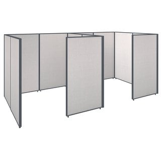 Bush Business Furniture Grey MDF Closed-cubicle ProPanels