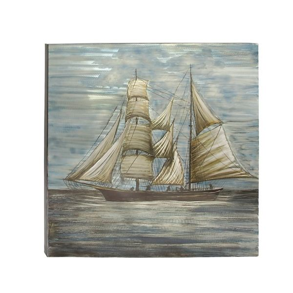 Nautical Themed Aluminum Canvas Art