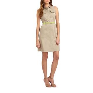Elie Tahari Gianna Linen Dress (Size 0)