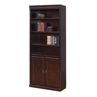 Havington Court Cherry-finish Hardwood Library Bookcase