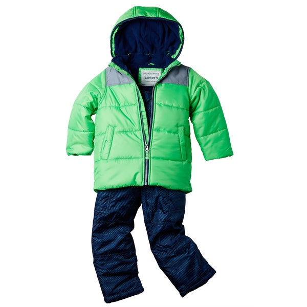 Carter's Toddler Boys' Ripstop Jacket and Bib