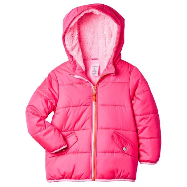 Carter's Girls' Pink Polyester Sherpa-lined Hood Jacket