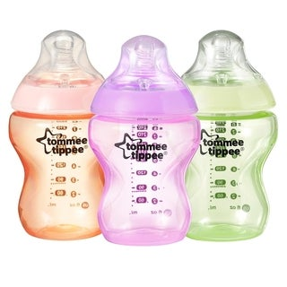 Tommee Tippee Closer to Nature 9-ounce Colour My World Bottles (Pack of 3)