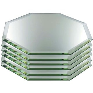 Decorative Stretched Octagon Beveled Mirrors