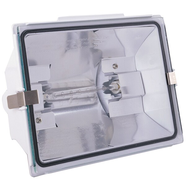 Heathco HZ-5505-WH 500 Watt White Halogen Floodlight