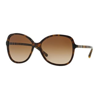 Burberry Women's BE4197 300213 Havana Plastic Butterfly Sunglasses