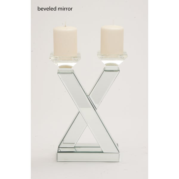 The Very Cool Wood Mirror Candle Holder