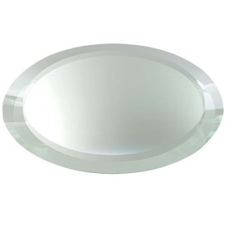 High -quality 5-millimeter Beveled Thick and Heavy Frameless Oval Decorative Display Mirrors with Feet