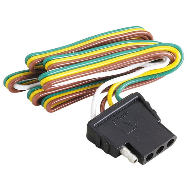 Attwood 14017-3 4 Way Flat Wiring Harness and Connector Socket