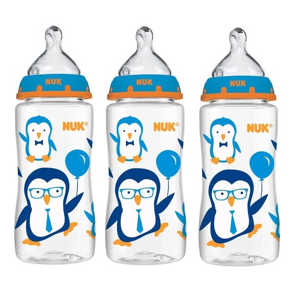 Nuk Penguin Orthodontic 10-ounce Bottle With Medium-flow Nipple 18629783