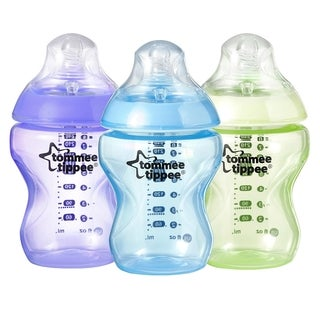 Tommee Tippee Closer to Nature Colour My World Plastic 9-ounce Bottle 3-pack