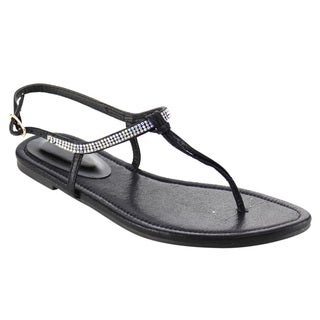 Beston DB69 Thong Rhinestone Flat Sandals
