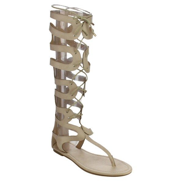 Beston DB68 Knee High Gladiator Sandals