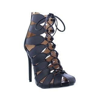 Beston DC25 Lace Up Glaidtor Ankle Heels